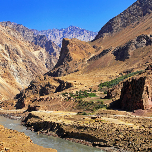 """Pamir Highway in the Wakhan Corridor"" stock image"