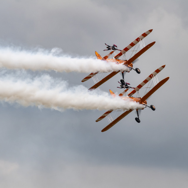 """The wing walkers."" stock image"