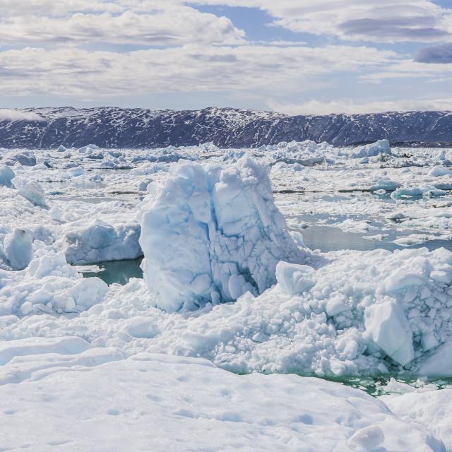 """A sea of gigantic ice, Ilulissat"" stock image"