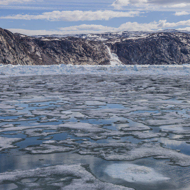 """A sea of floating ice, Ilulissat"" stock image"