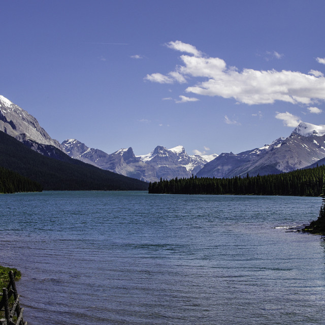"""Maligne Lake"" stock image"