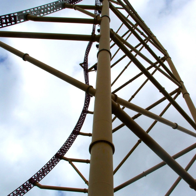 """Top Thrill Dragster"" stock image"