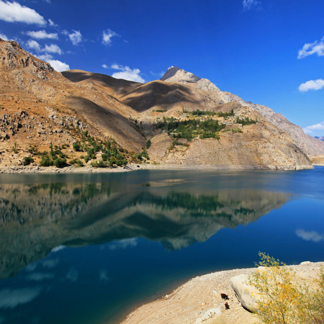 """The sixth lake, Marguzor in Fann mountains"" stock image"