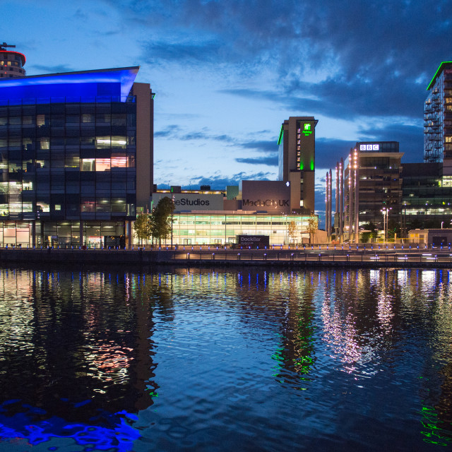 """My Manchester - Media City"" stock image"