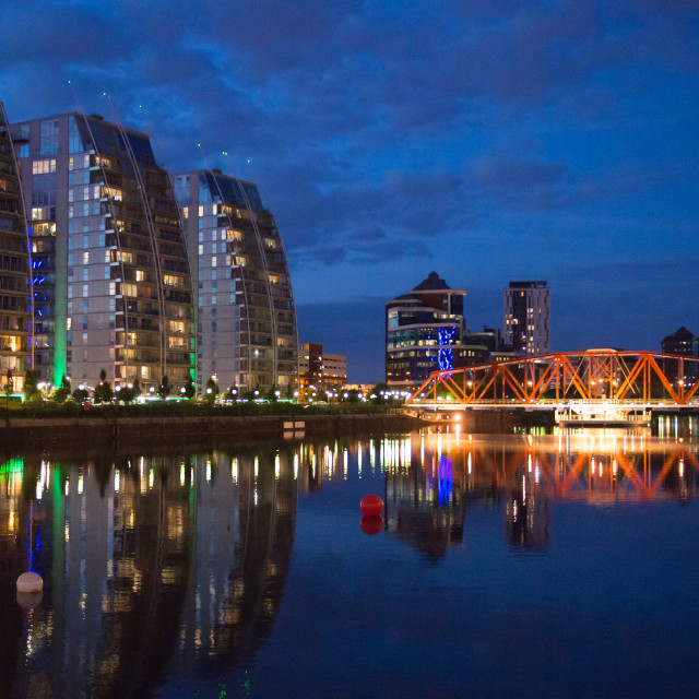 """""""My Manchester - Salford Quays"""" stock image"""