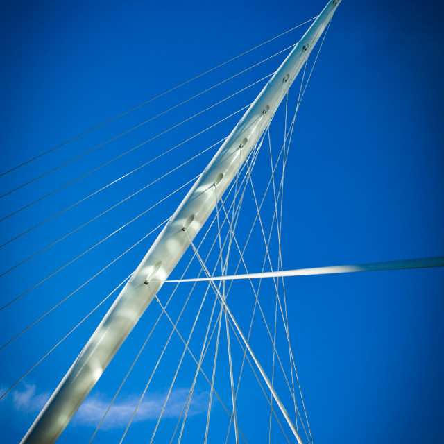 """My Manchester - Trinity Bridge"" stock image"