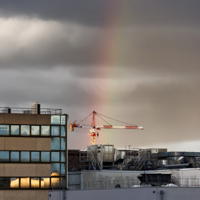 """Over the rainbow"" stock image"