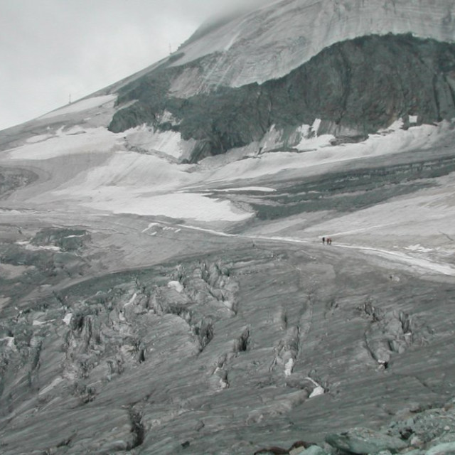 """Swiss Glacier near Saas Fee"" stock image"