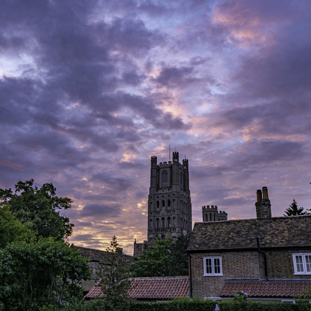 """""""Sunrise over Ely, 7th July 2020"""" stock image"""