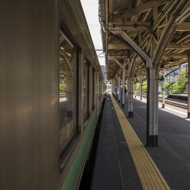 """Train station platform"" stock image"