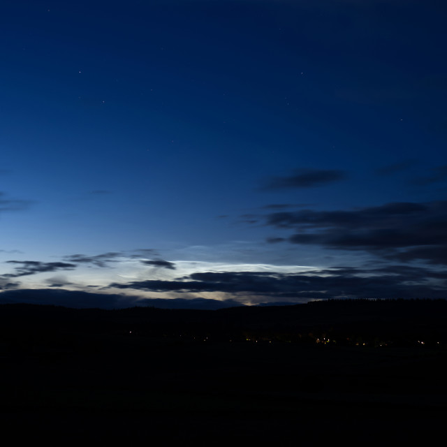 """""""NLC over Torphins"""" stock image"""