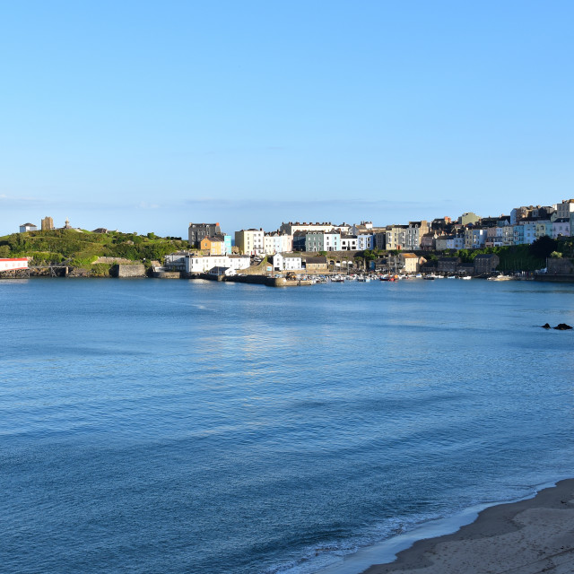"""""""Tenby on a July evening"""" stock image"""