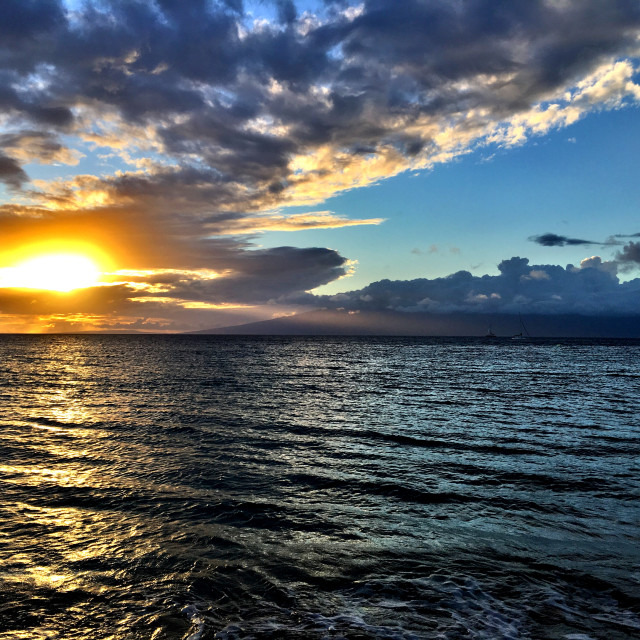 """""""Sunset in the Pacific"""" stock image"""