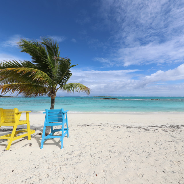 """""""Empty chairs in paradise"""" stock image"""