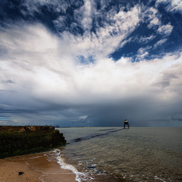 """Storms Passing Dovercourt Low Light"" stock image"