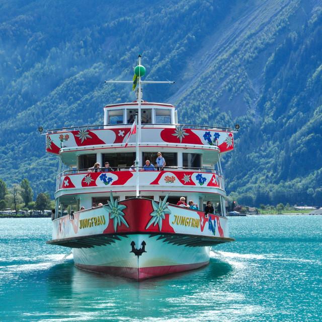 """MS Jungfrau, Lake Brienz"" stock image"