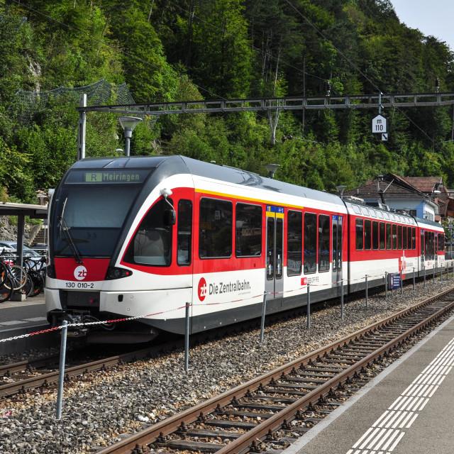 """""""Local Train at Brienz"""" stock image"""