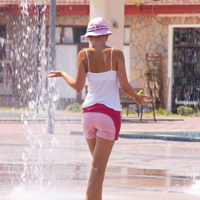 """""""Refreshing Fountains"""" stock image"""