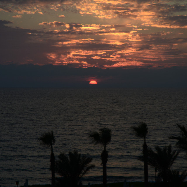 """Paphos Sunset, Cyprus"" stock image"