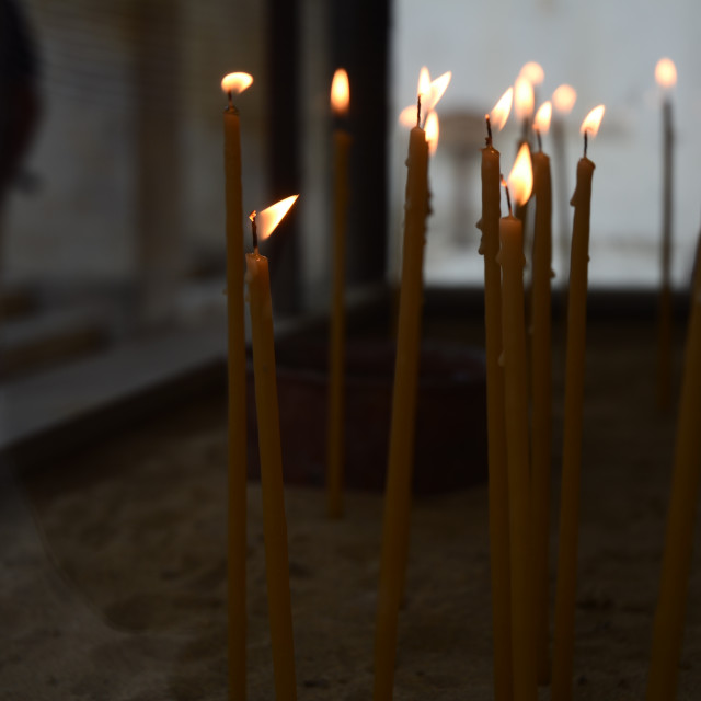 """Church Candles"" stock image"