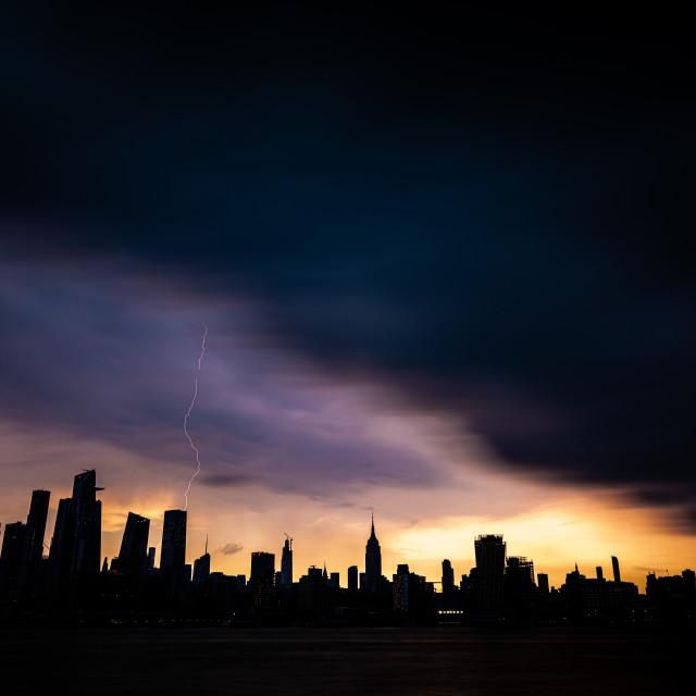 """Moody Skies NYC"" stock image"