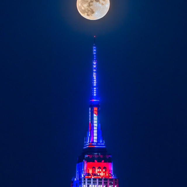 """Full Moon 4th July"" stock image"
