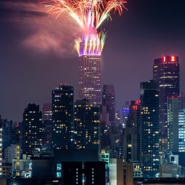 """4th July Fireworks NYC"" stock image"