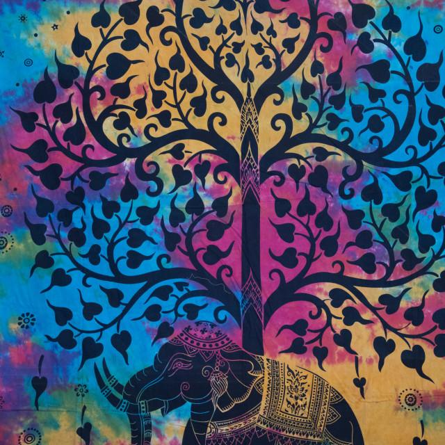 """Spiritual Fabric Print"" stock image"