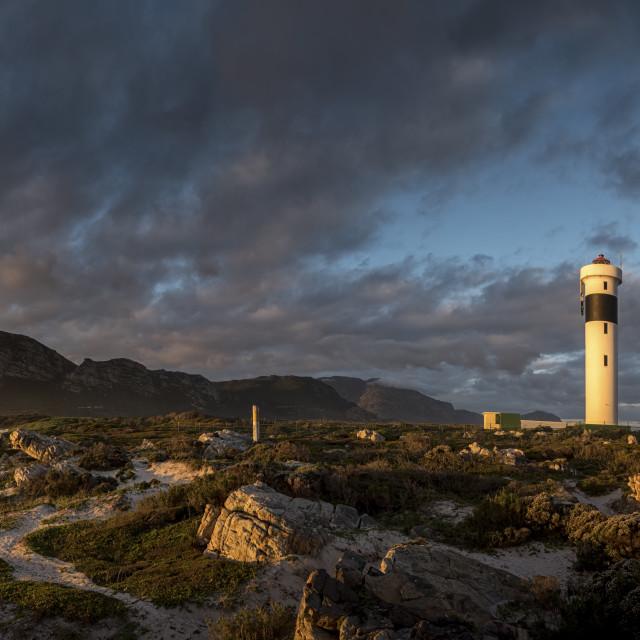 """Hangklip Lighthouse Sunset"" stock image"