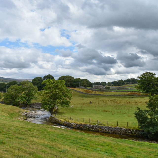 """""""Gayle Beck near Hawes"""" stock image"""