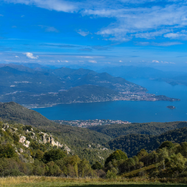 """""""Lake Maggiore from the Hills Above Stresa."""" stock image"""