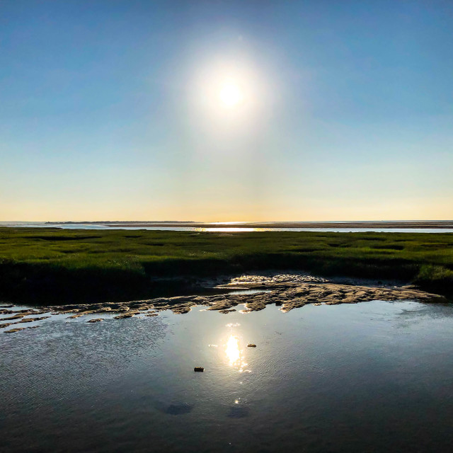 """""""Sun Reflected at Low Tide"""" stock image"""
