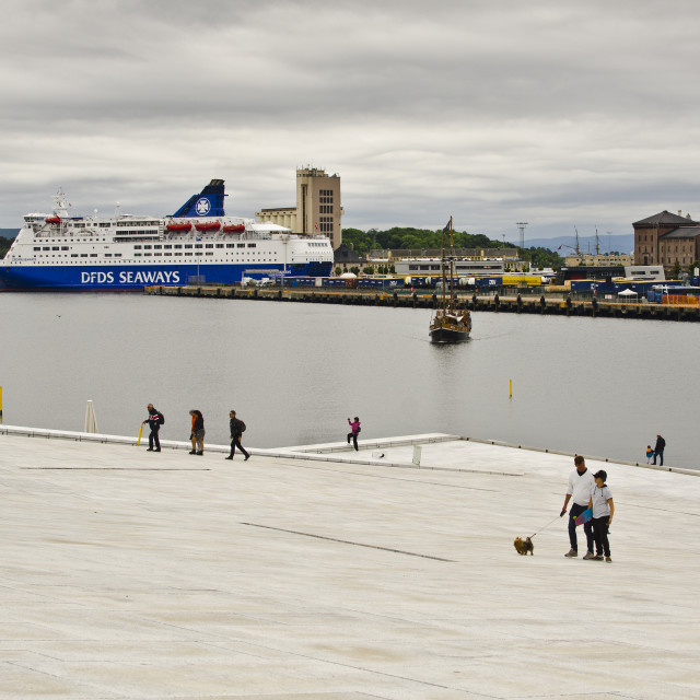 """Oslo Waterfront, Norway"" stock image"