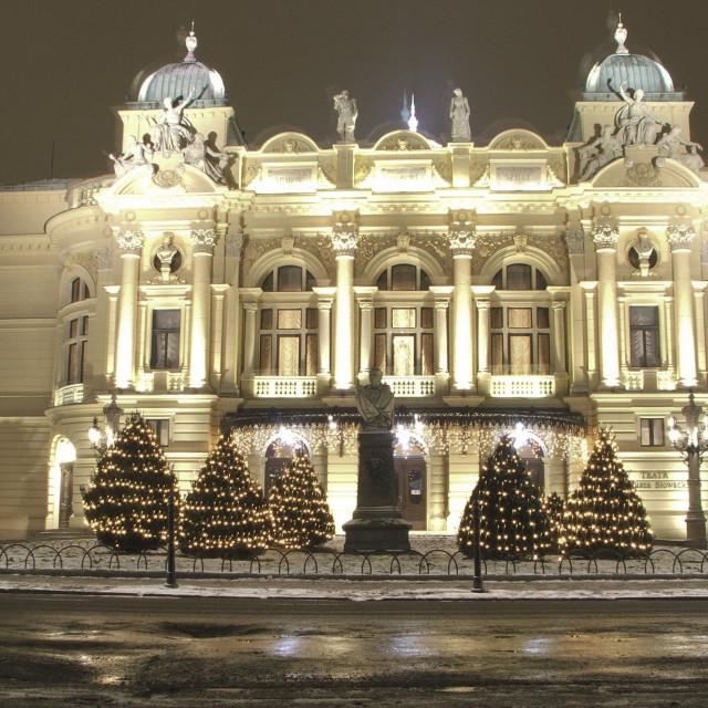 """""""Juliusz Słowacki Theatre, Kraków"""" stock image"""