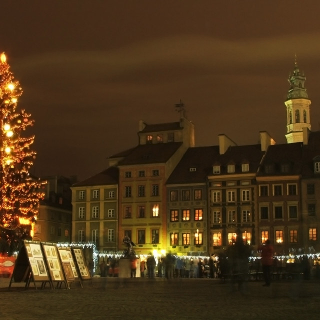 """""""Warsaw Central Square"""" stock image"""