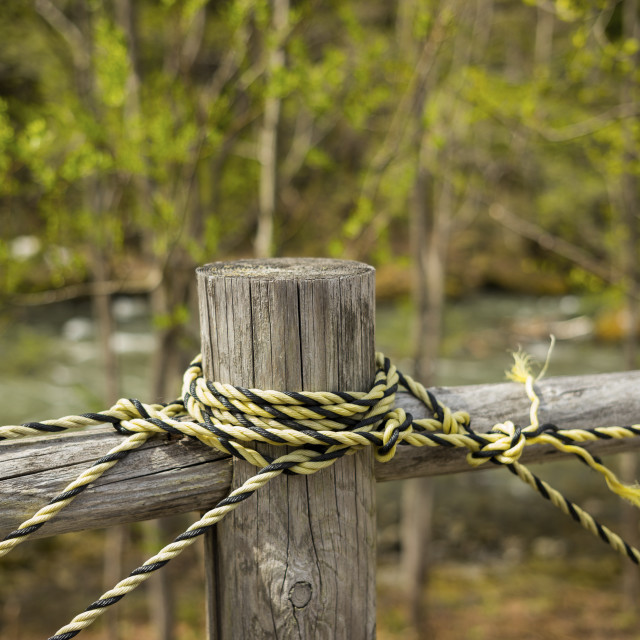 """The rope and the pole"" stock image"
