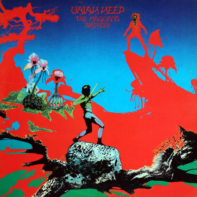 """""""Uriah Heep: LP front cover 'The Magician's Birthday'"""" stock image"""