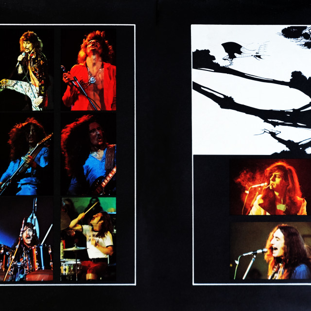 """""""Uriah Heep: LP total inside cover 'The Magician's Birthday'"""" stock image"""