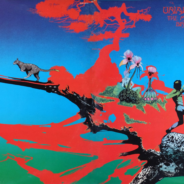 """""""Uriah Heep: LP total front cover 'The Magician's Birthday'"""" stock image"""