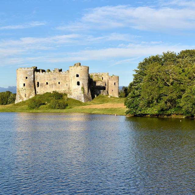 """Carew Castle in July"" stock image"