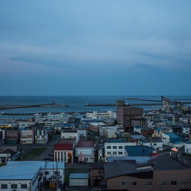 """The sea, Mombetsu, Hokkaido, Japan"" stock image"