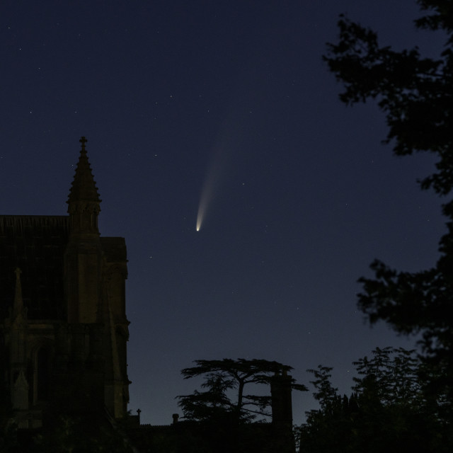 """""""Comet NEOWISE, 11th July 2020"""" stock image"""
