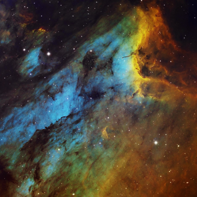 """""""The PelicanNebula (IC 5070) in the constellation of Cygnus, HST image"""" stock image"""
