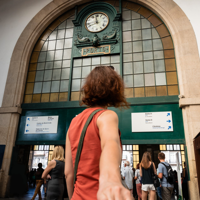 """Sao Bento railway station in Porto"" stock image"