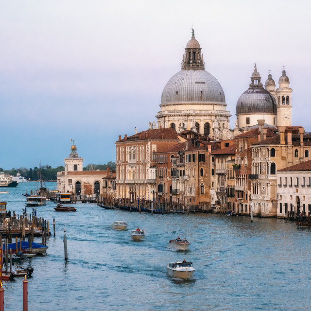 """""""Sunset view of Grand Canal, Venice, Italy."""" stock image"""