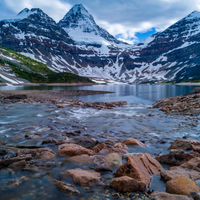 """""""Magog Lake"""" stock image"""
