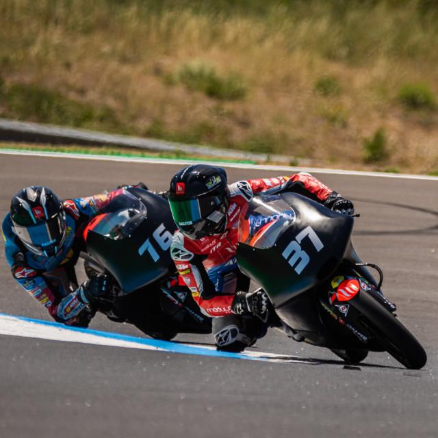 """""""Rider Pedro Acosta during a free practice of FIM CEV Repsol Estoril 2020"""" stock image"""