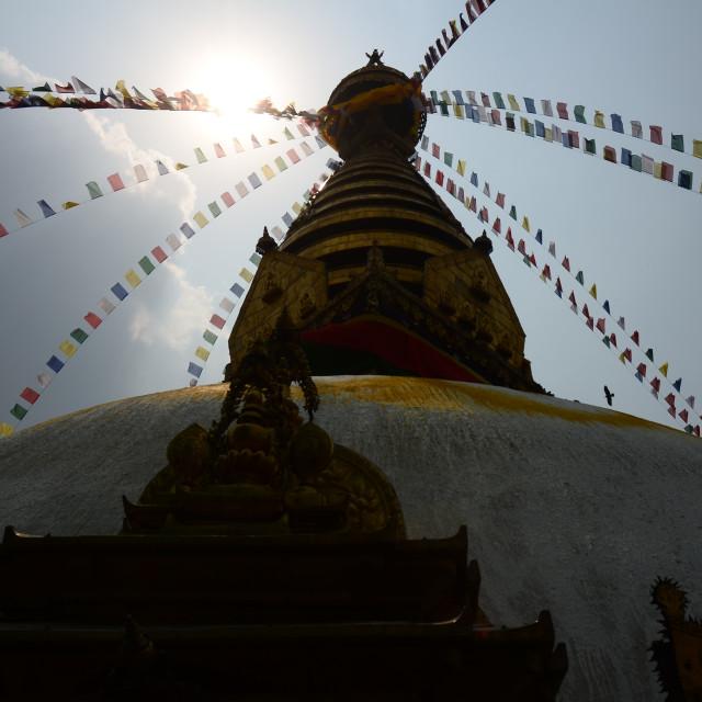 """Monkey Temple, Kathmandu"" stock image"