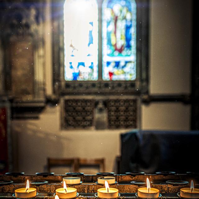 """""""The Catholic Church, Cambridge UK."""" stock image"""