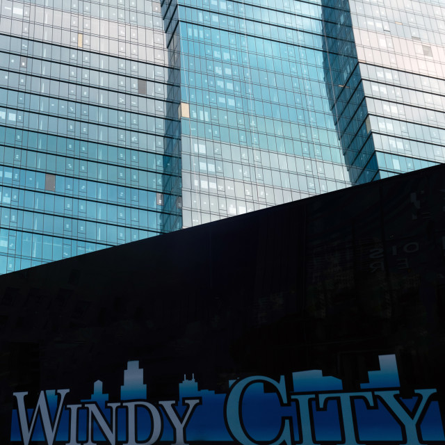 """Windy City - Chicago"" stock image"